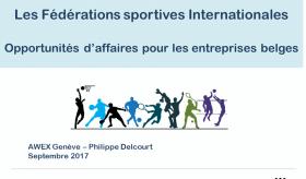 Séminaire sur les Fédérations sportives internationales en Suisse