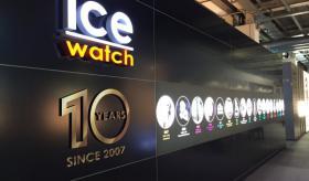 Le stand d'ICE WATCH était magnifiquement agencé pour les 10 ans d'anniversaire.