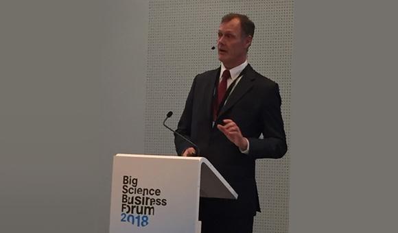 Présentation du Directeur des achats du CERN, Anders Unnervik au BSBF 2018