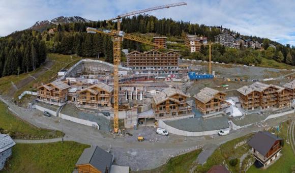 Un des chantiers réalisés par DUMAS en Suisse acquis par Thomas & Piron